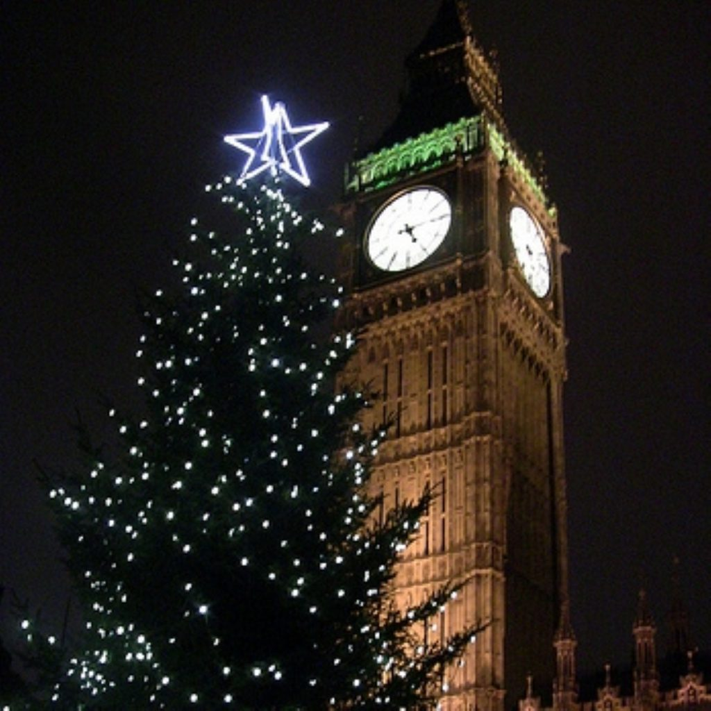 Parliament breaks up for Christmas today