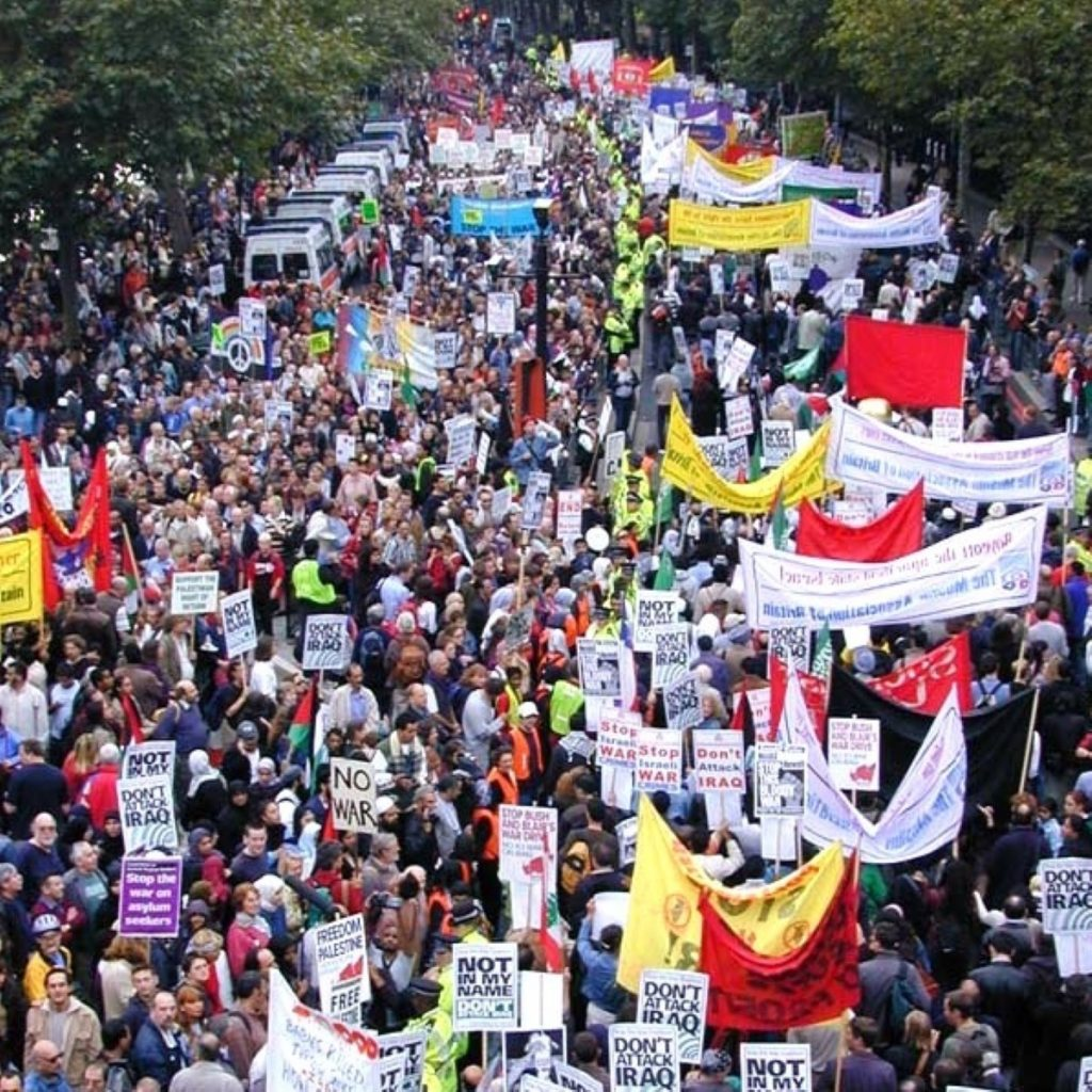 Greens claim the London protest was ignored by Labour government and Miliband should apologise.