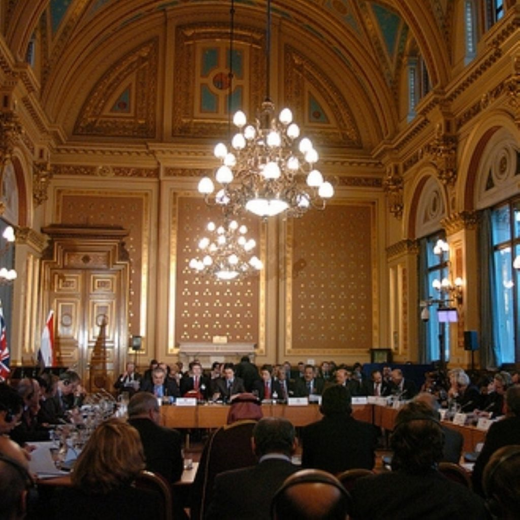 The Yemen meeting took place in the Foreign Office's Locarno suite