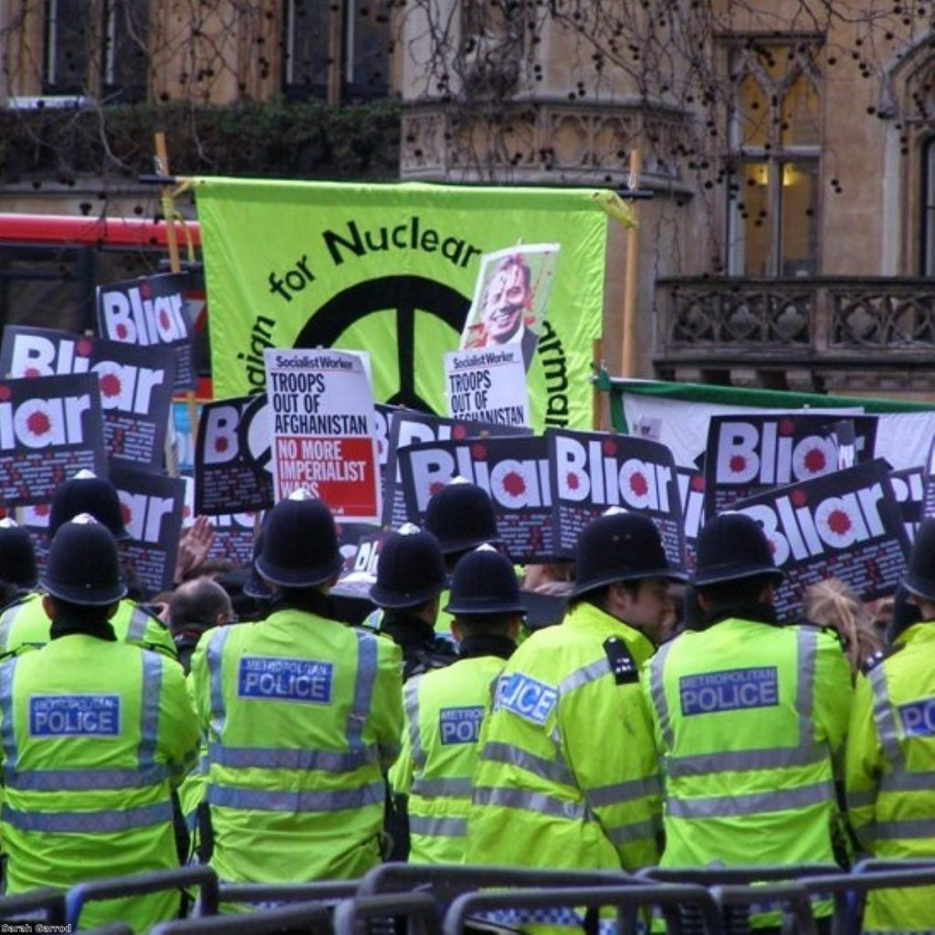 Protests in Westminster need prior authorisation under Socpa