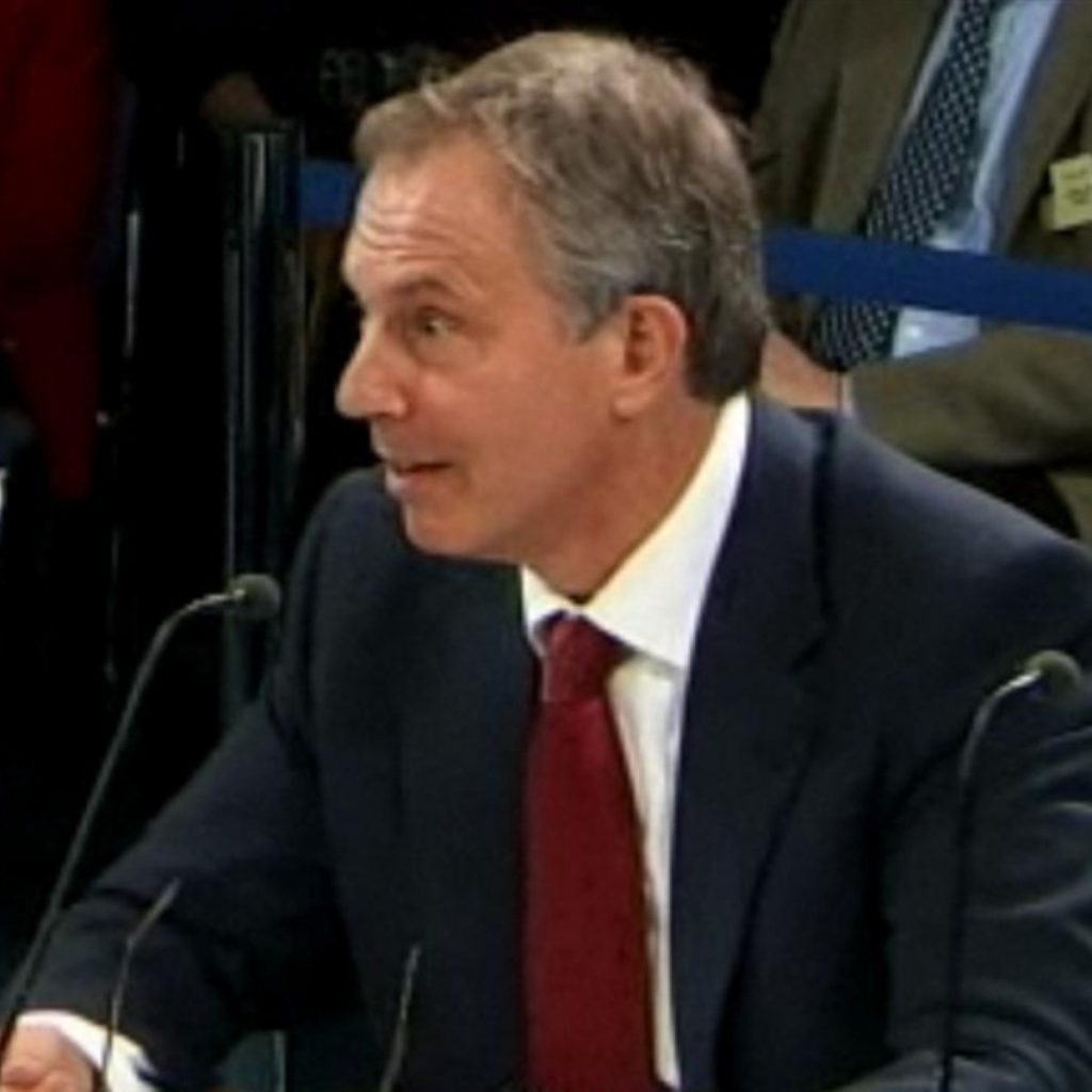 Tony Blair answered questions about Iraq for a second time today