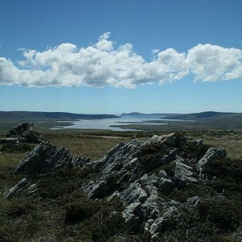 The Falklands Islands: The subject of bitter dispute between Britain and Argentina