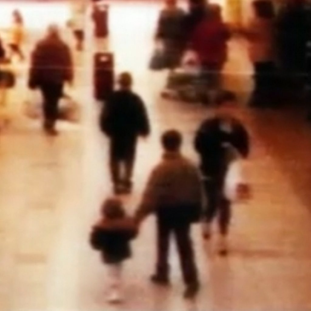 CCTV showing James Bulger, who was murdered in 1993