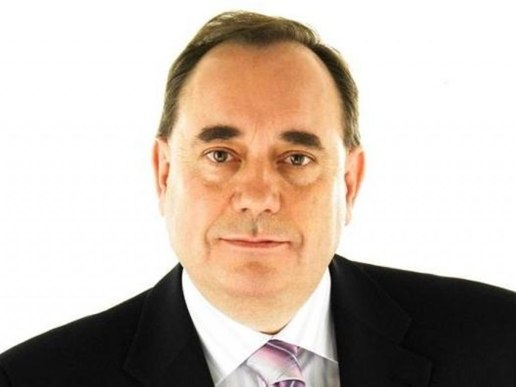 Simultaneous attack: Salmond faces Miliband and Clegg speeches.