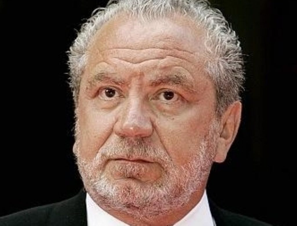 Lord Sugar has expressed his own particular brand of commentary on the coalition government