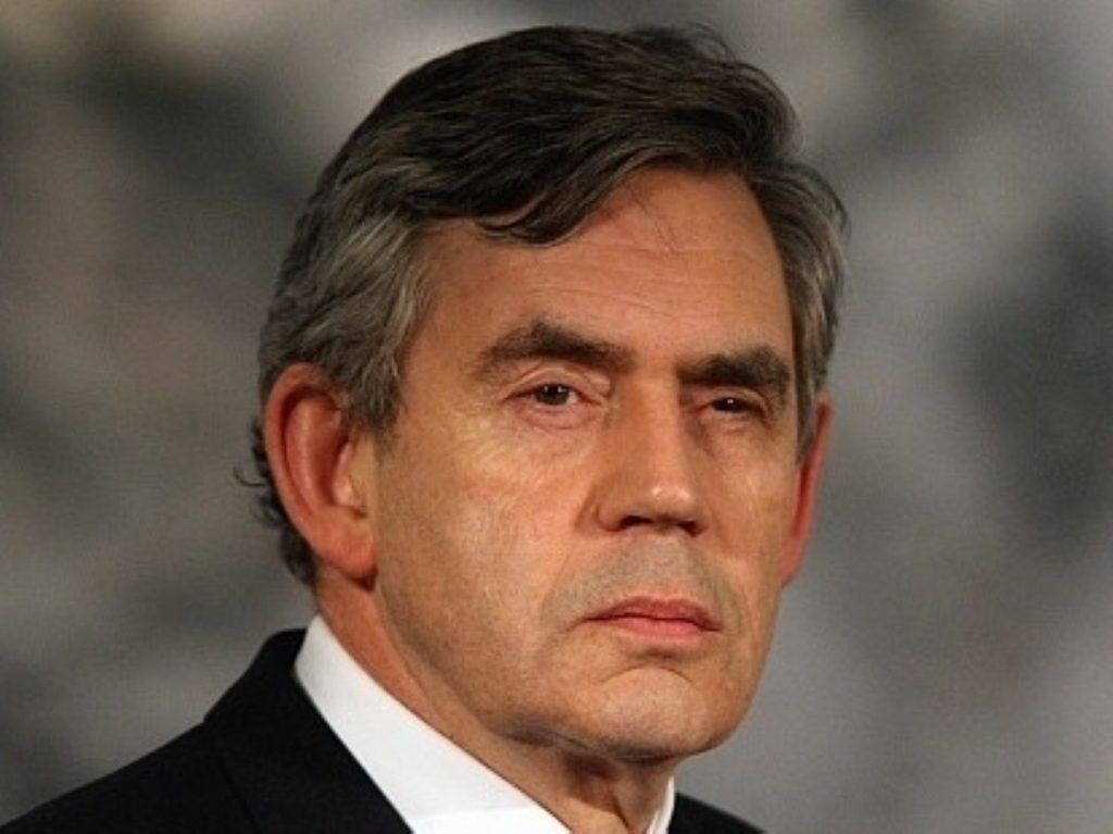 Gordon Brown made his first major speech since leaving office today
