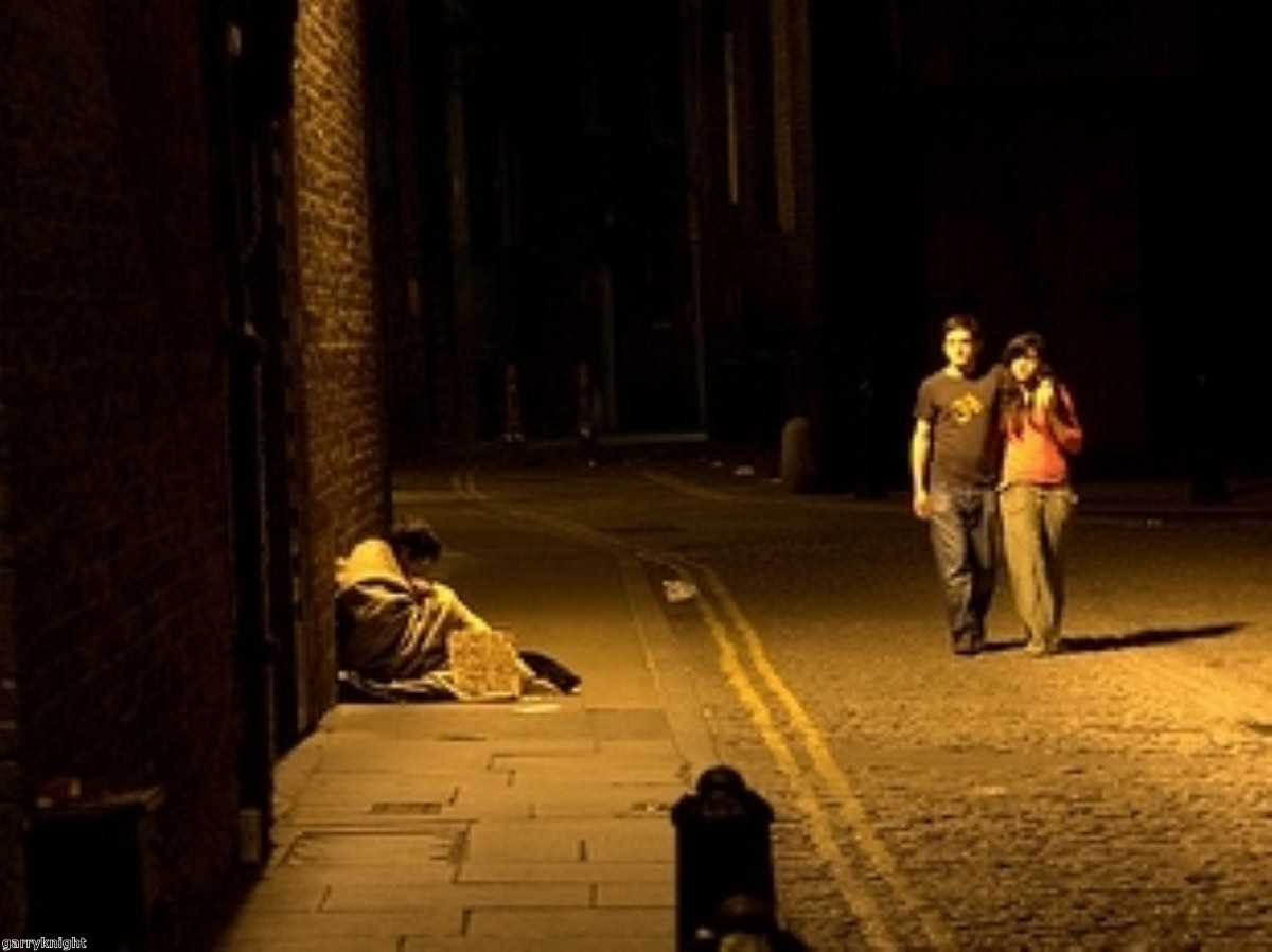 Rough sleeping up by over a third in last three years