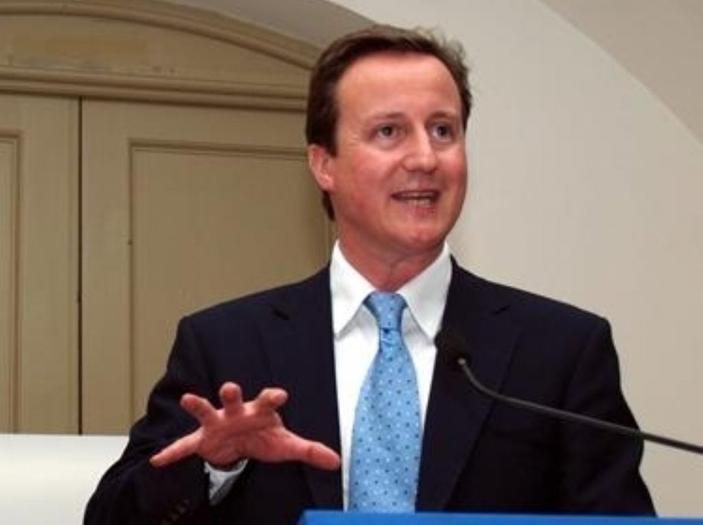 Cameron concentrates on the public sector today