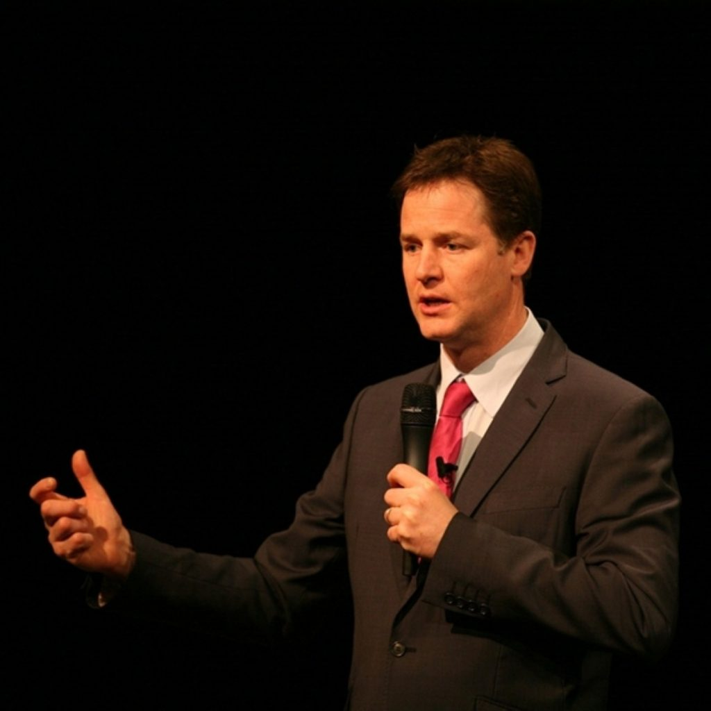 Clegg is full speech mode. But will it be better today.
