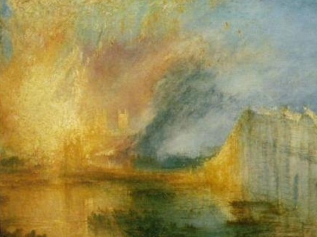 Turner's Burning Of The Houses of Lords And Commons