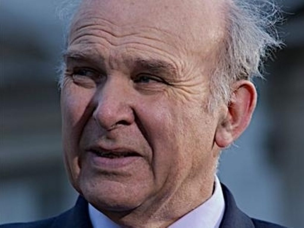 Under pressure: Vince Cable showing warning signs