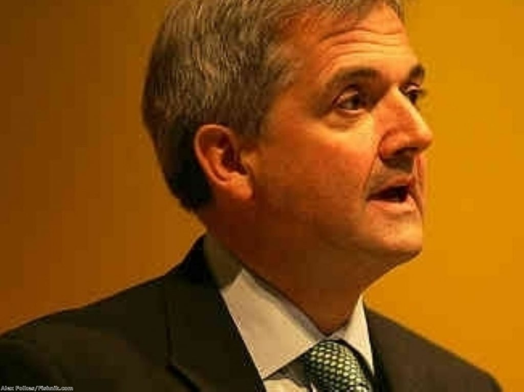 Chris Huhne has left the possibility of Lib-Lab co-operation open, according to reports