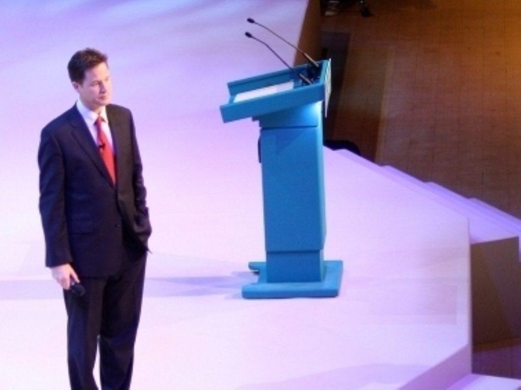 Clegg will unveil the Lib Dem manifesto on Wednesday