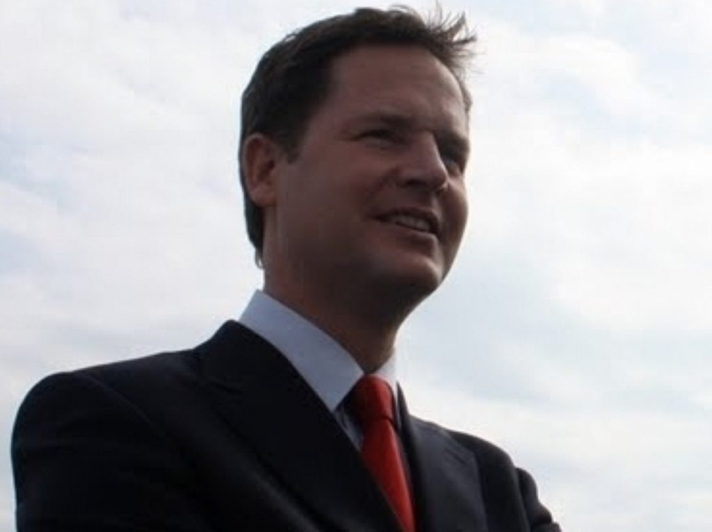 Nick Clegg continues his attack on the banks today