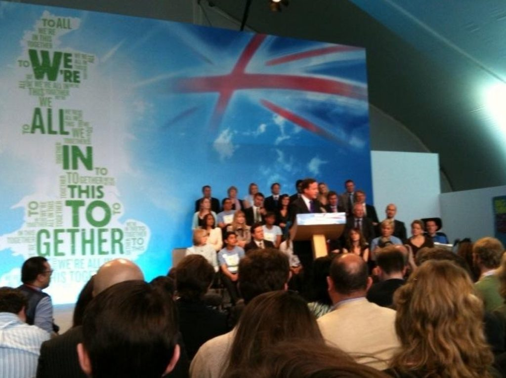 David Cameron launches the Conservative party manifesto