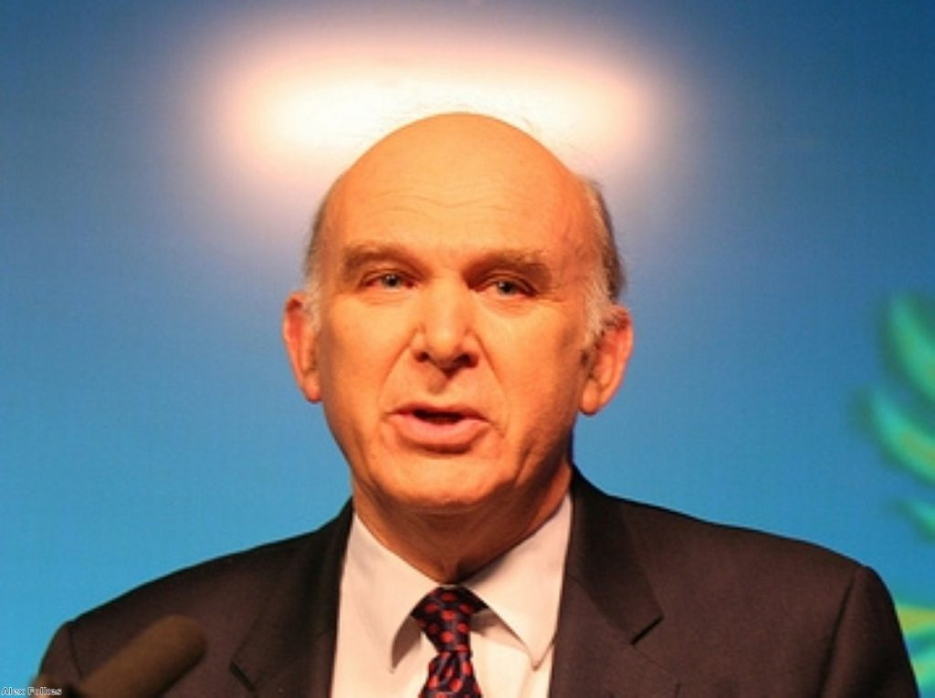 Vince Cable has come to the rescue of Murdoch's media opponents