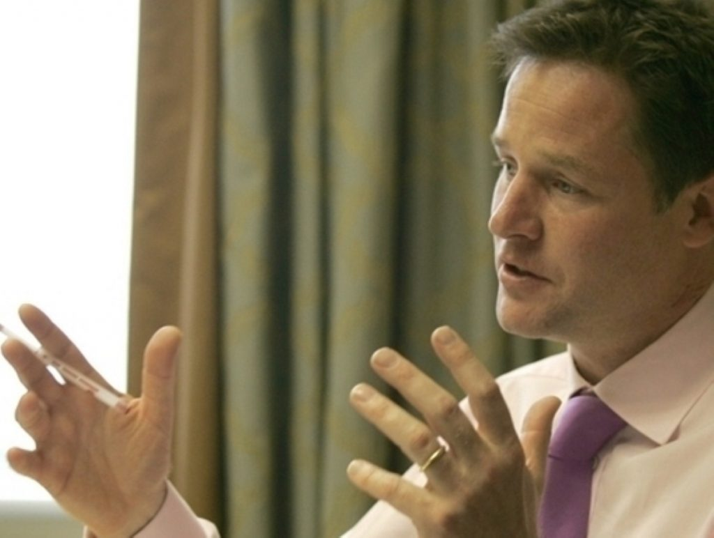 Clegg: Investment will jump-start growth