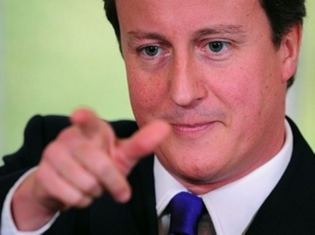 Cameron made his last pitch to voters last night