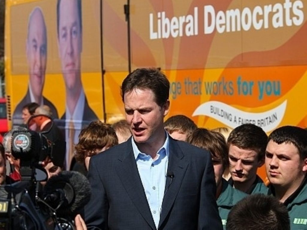 Nick Clegg campaigns over the weekend