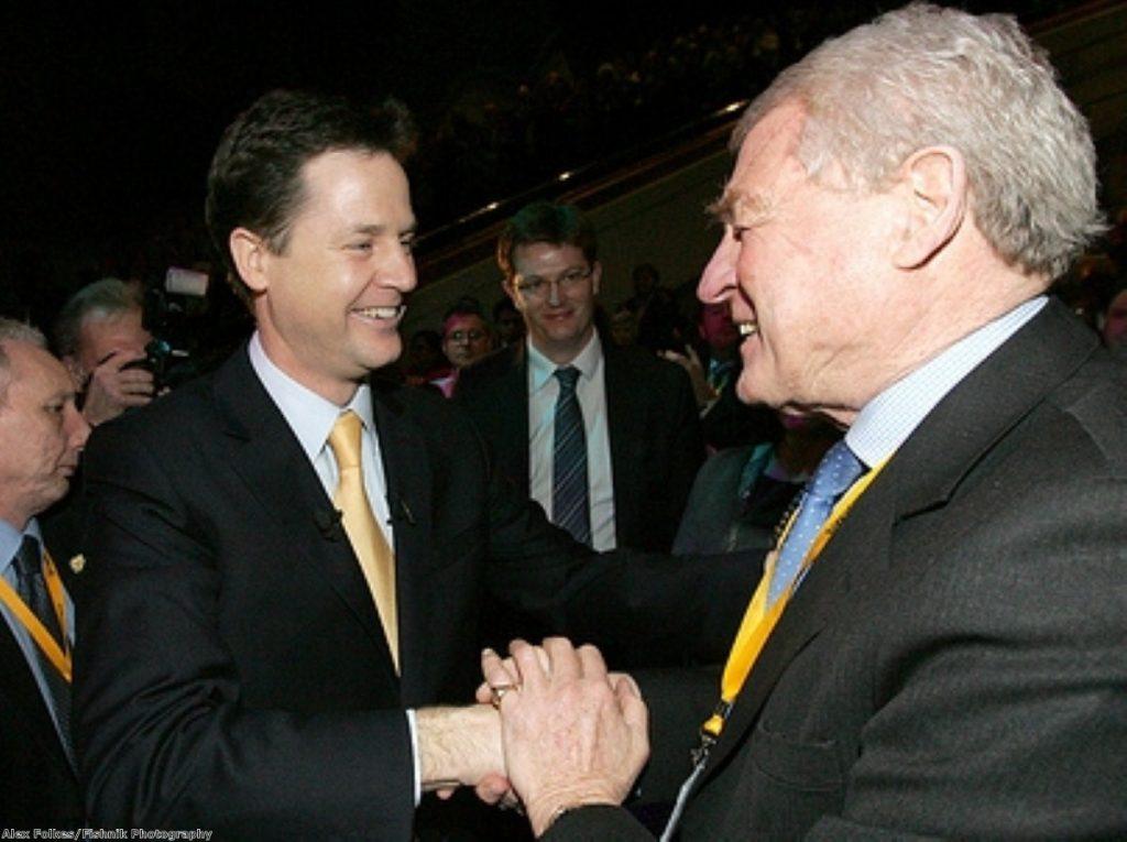 Paddy Ashdown salutes Nick Clegg's judgement.