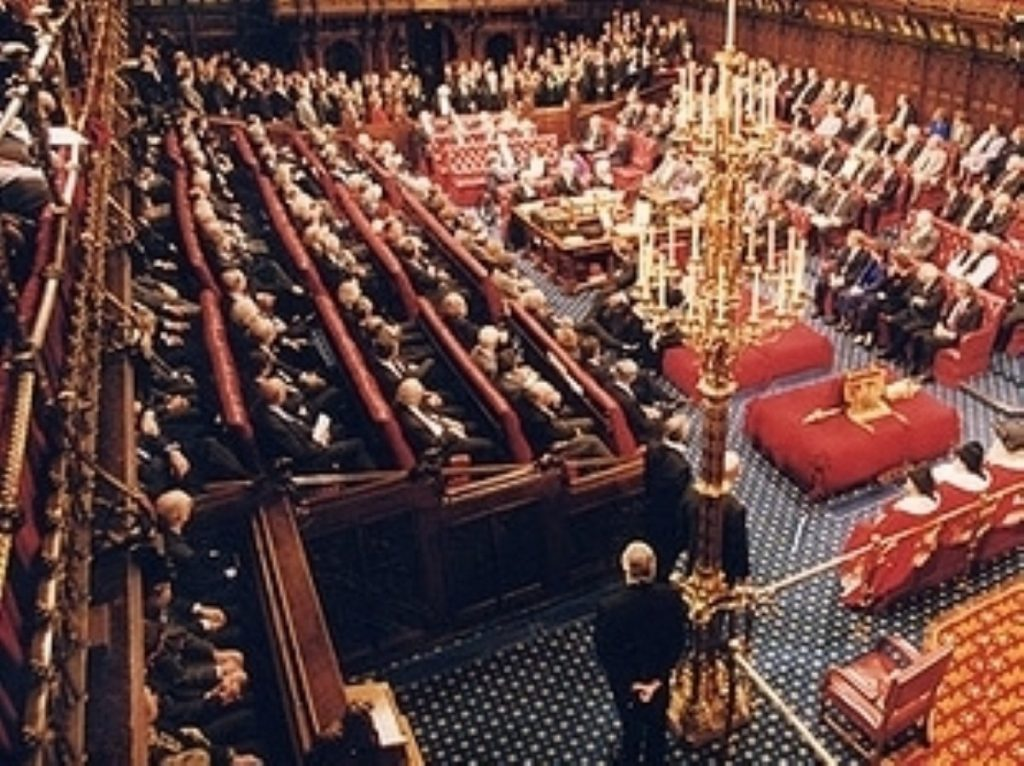 A packed Lords chamber for the boundary changes standoff