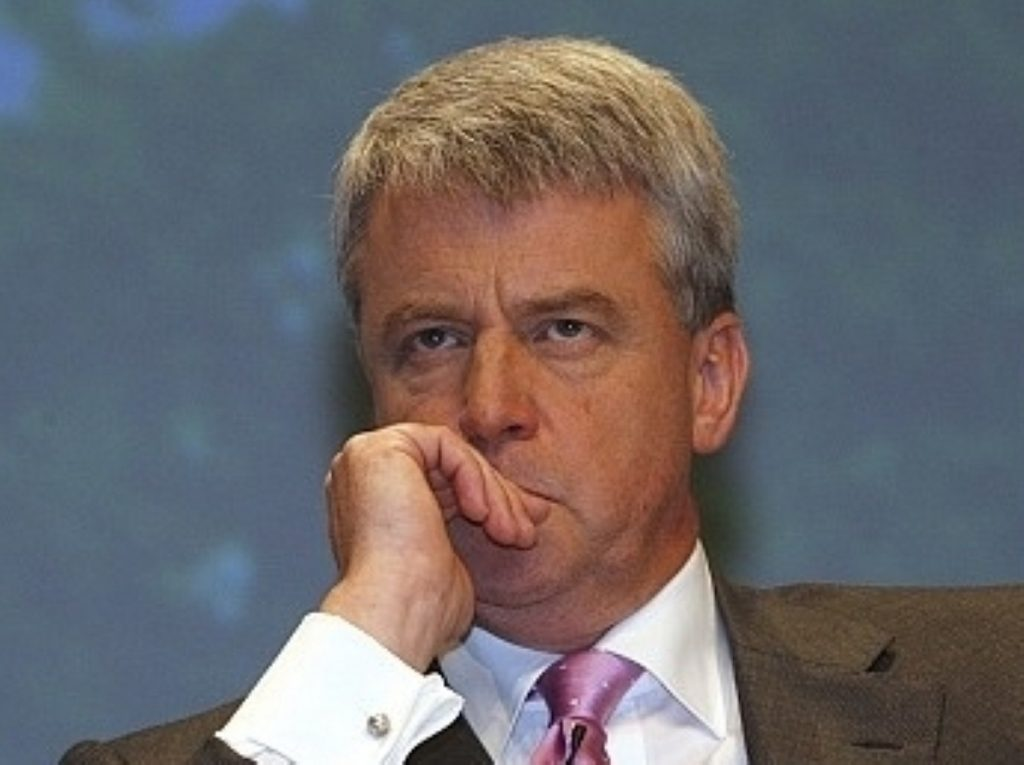 Andrew Lansley faced criticism of his party's funding