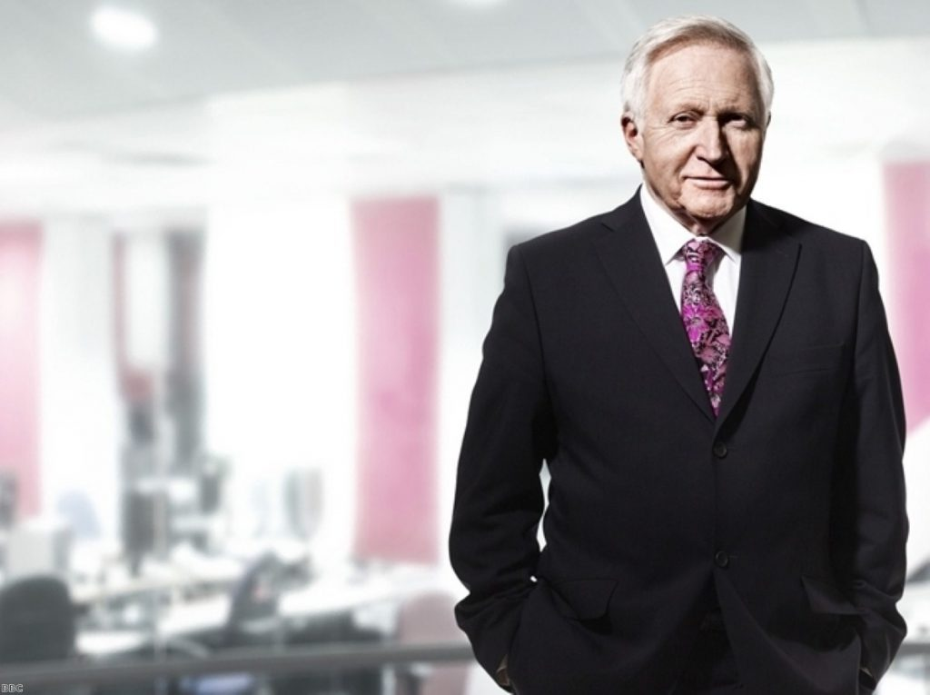 David Dimbleby presented the programme yesterday evening