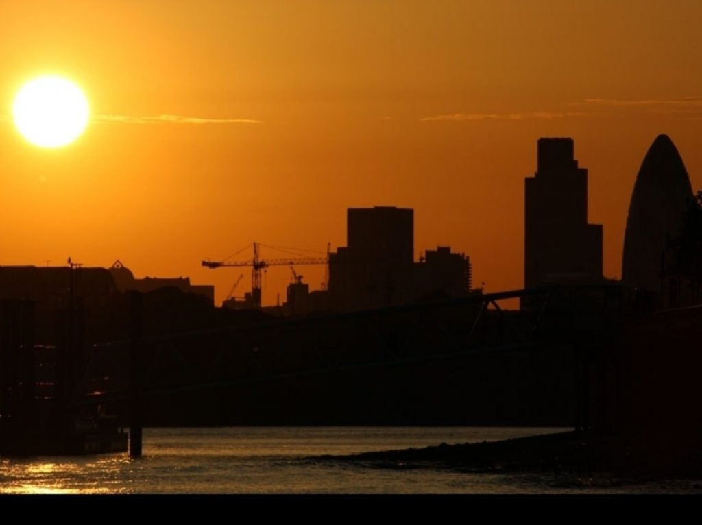 Sunset over London: David Cameron plans to campaign through the night
