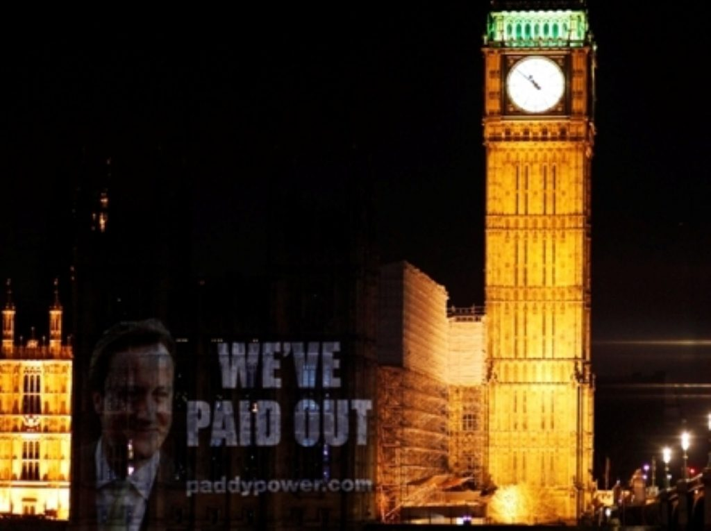 Paddy Power is paying out early on a Tory win