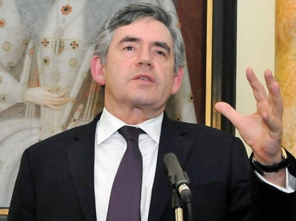 Gordon Brown looks to the future