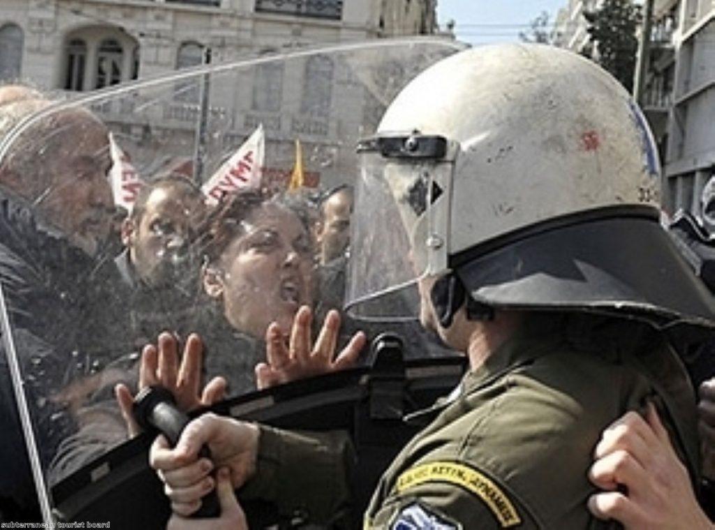 In Greece, austerity measures have been met by unprecedented public unrest.