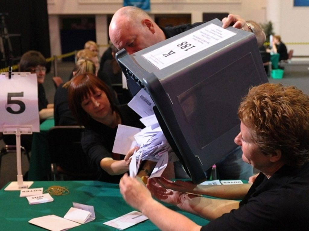 Voting in the 2010 election concludes in Thirsk and Malton today