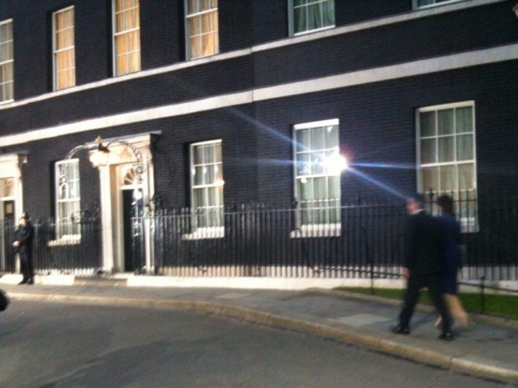 David and Samantha Cameron make the long walk to No 10