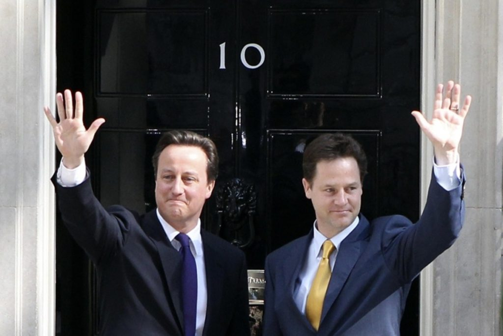 Happier times? The tuition fees debate could divide the coalition government