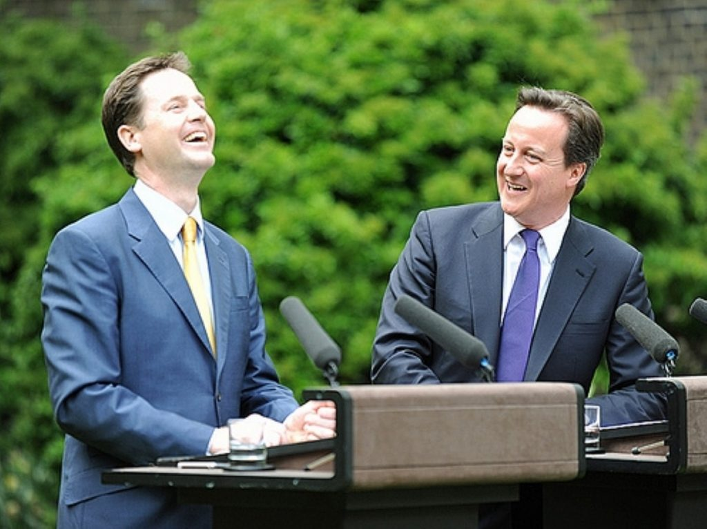 Clegg and Cameron in happier times