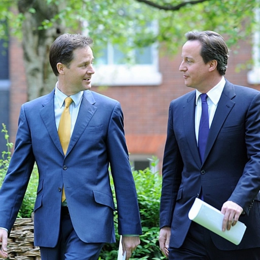 Nick Clegg and David Cameron will discuss changes to the NHS reforms.