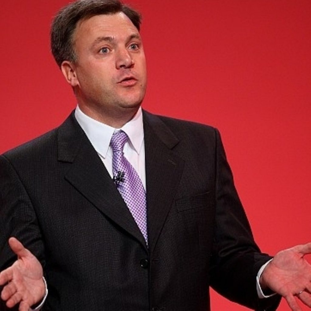 Ed Balls is MP for Morley and Outwood