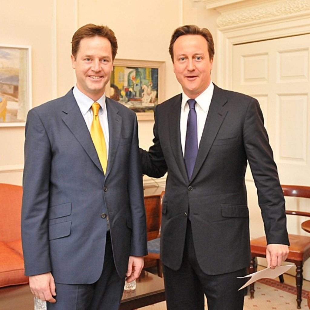 David Cameron and Nick Clegg will make the case for opposite sides of the AV campaign today