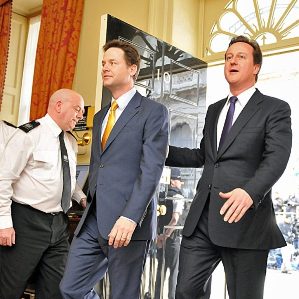 Cameron shouldn't govern alone says Clegg