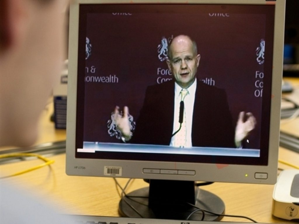 William Hague's Foreign Office spends less than 1% of the government's overall budget
