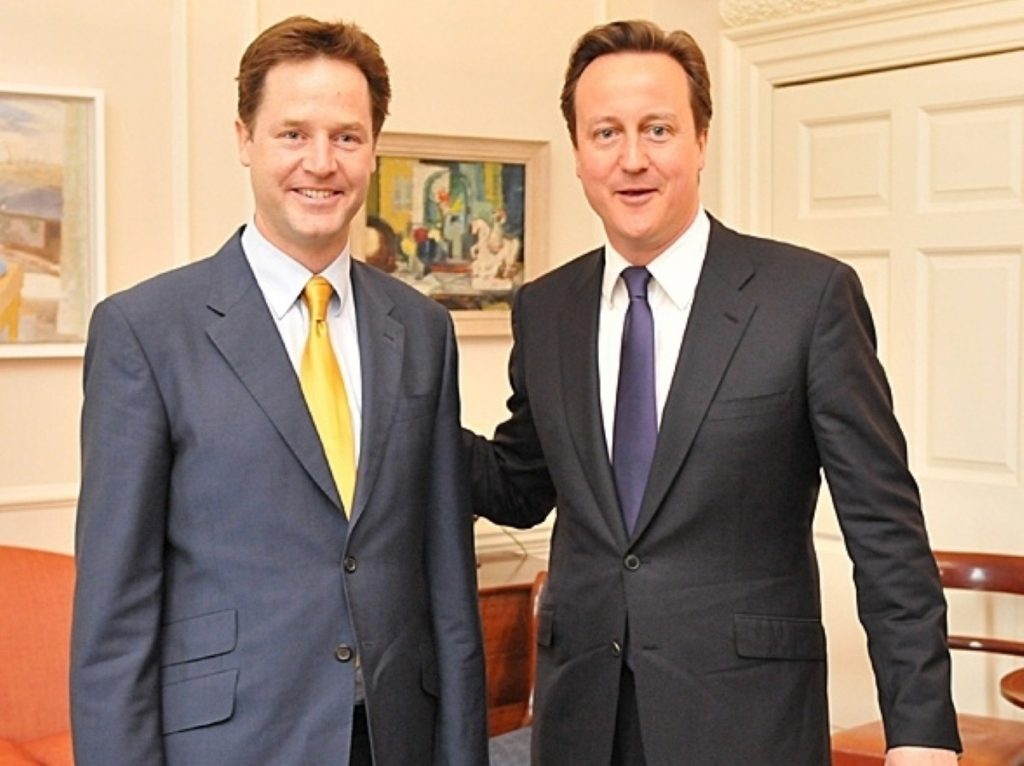 David Cameron has handed Nick Clegg sweeping political reform responsibility