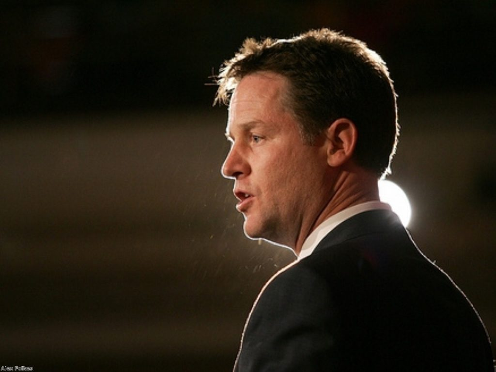 Nick Clegg is under pressure from his own party
