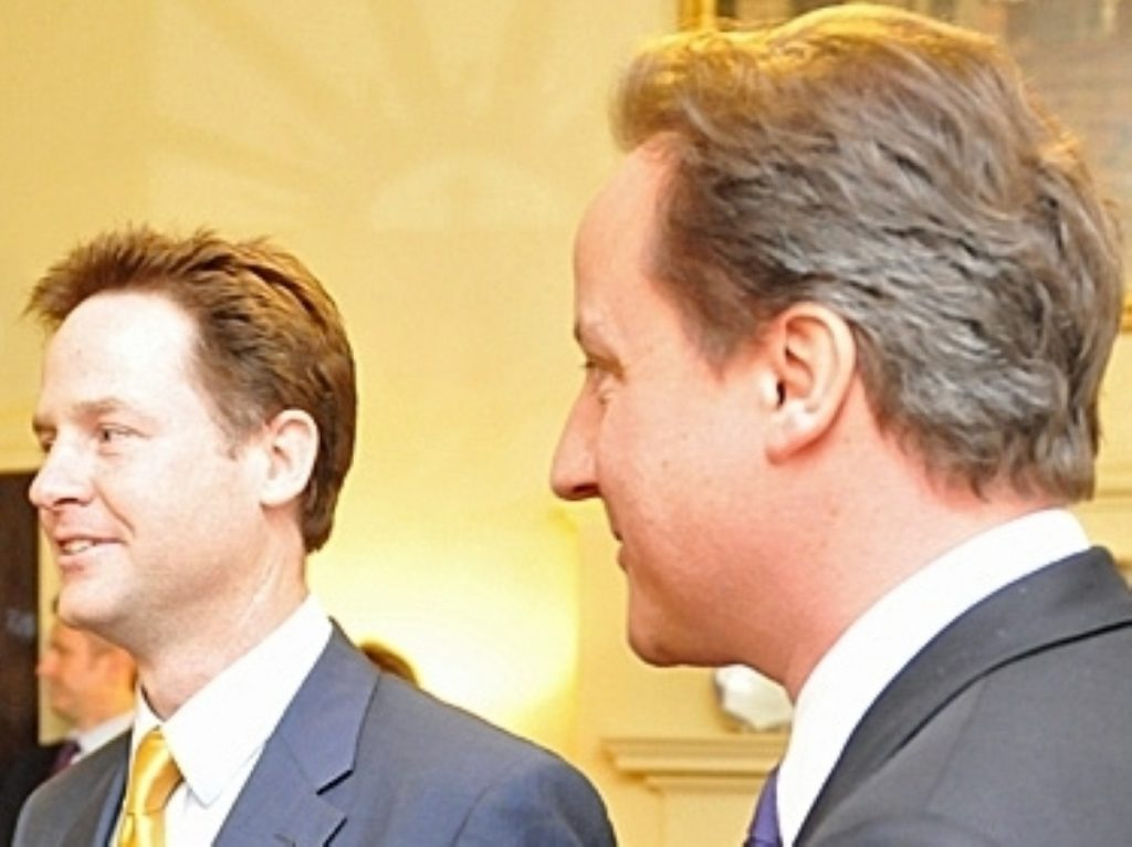 Nick Clegg and David Cameron defend the coalition