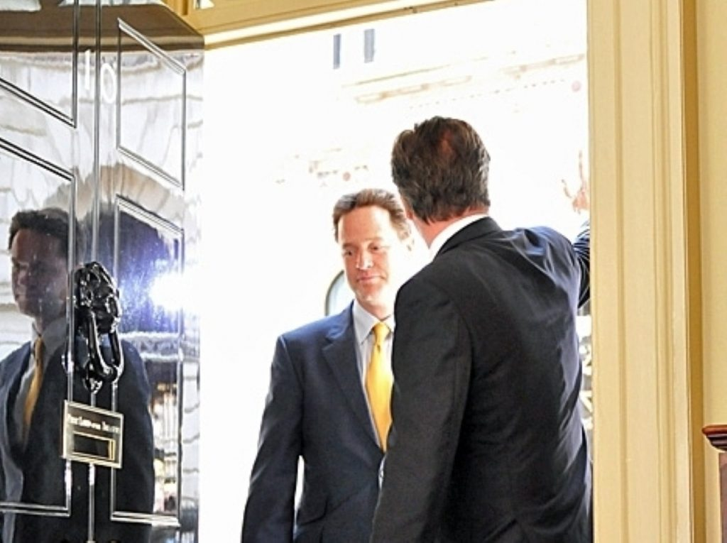 Nick Clegg and David Cameron face life without David Laws