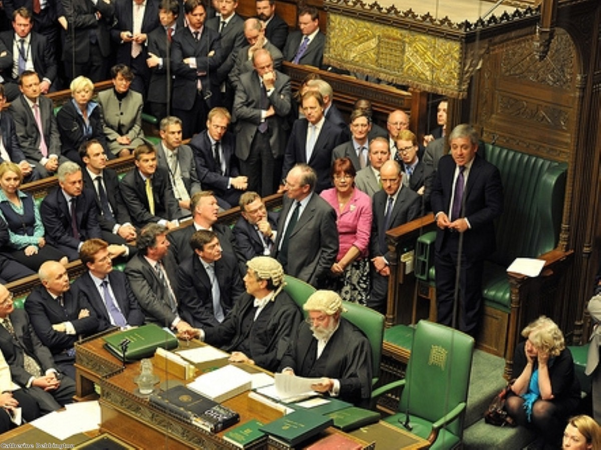 John Bercow, in the Speaker's chair, is not popular on the Tory backbenches