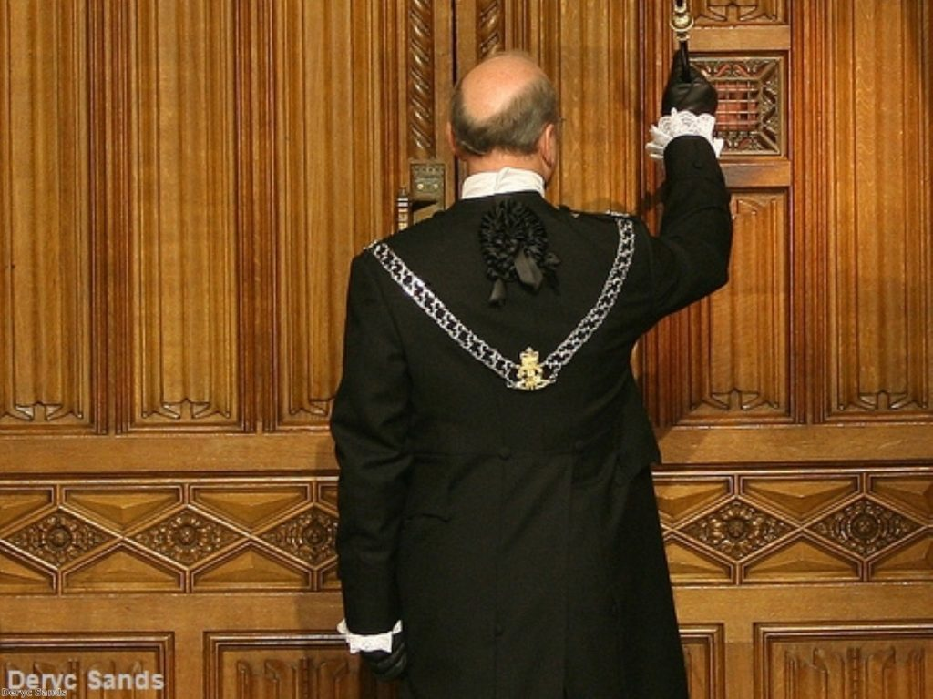 Black Rod knocks on the door of the Commons. The evening's events bear constitutional comparison to the years preceding the English civil war.