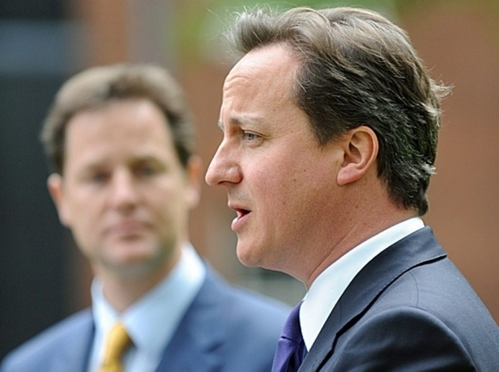 Looking on: Could Clegg and Cameron be heading for the ultimate split?