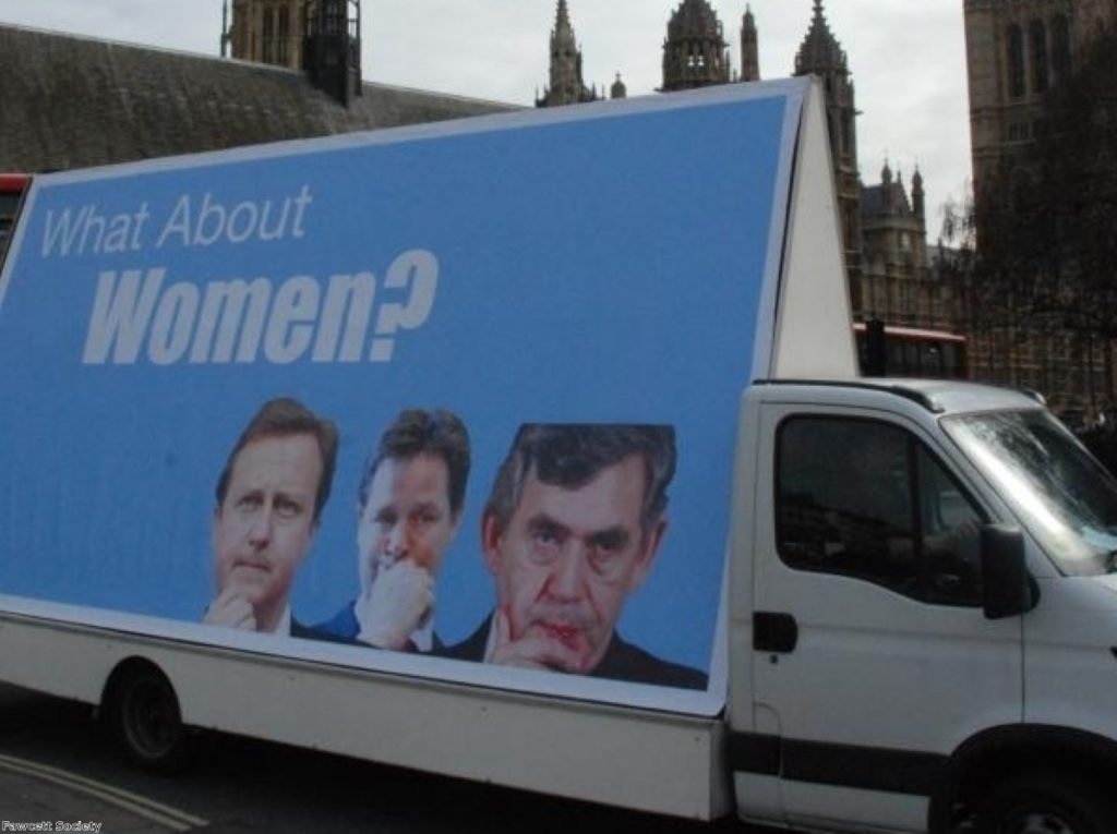 The Fawcett Society campaigns for more women in politics at the general election