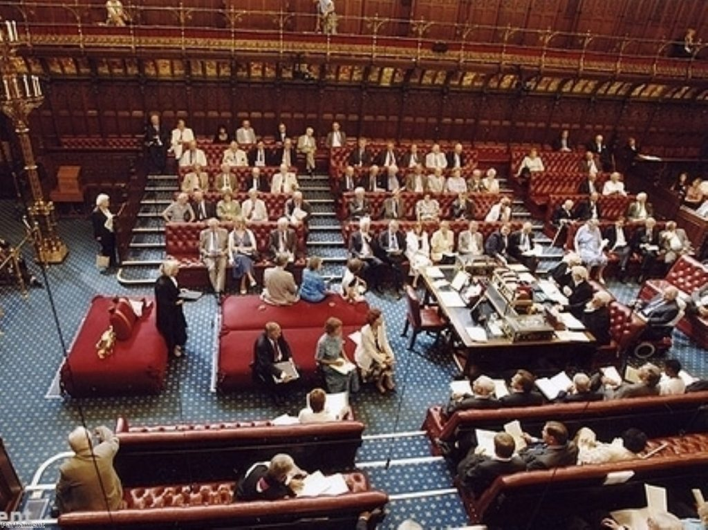 The committee recomended the Lords were suspended