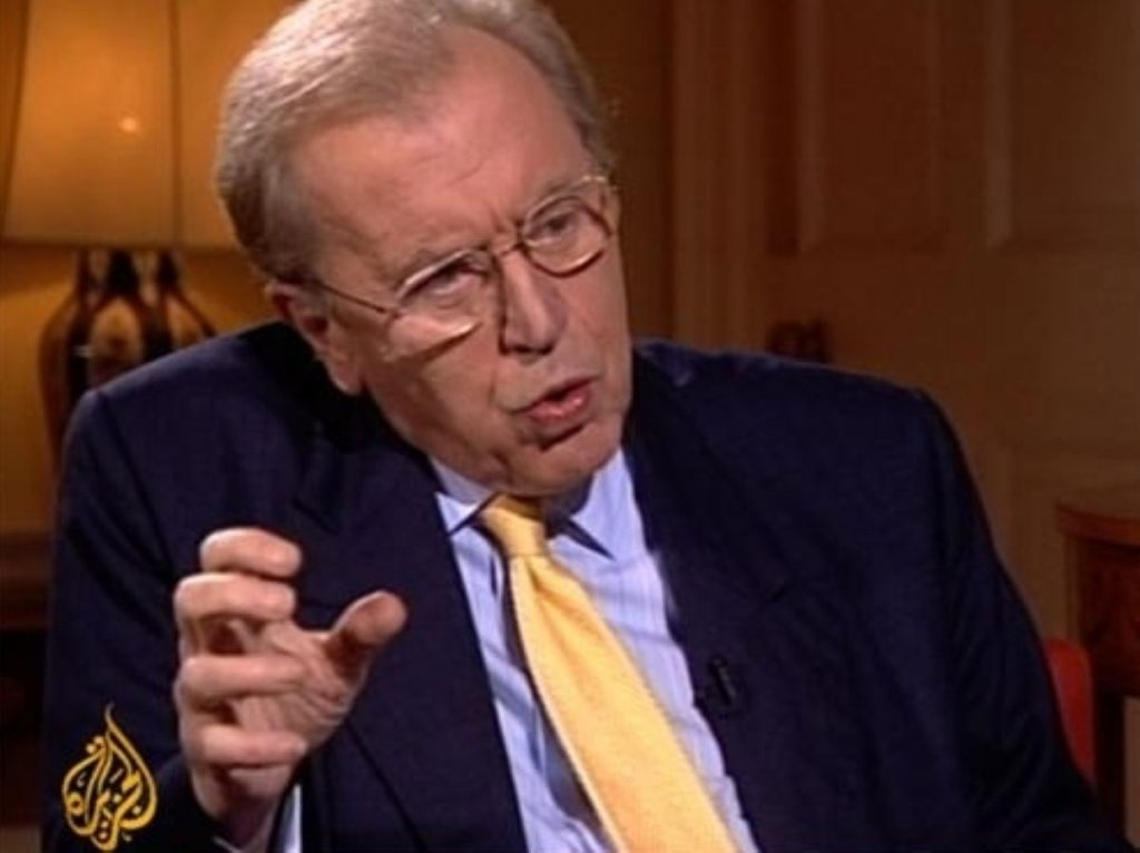 Sir David Frost moved to al-Jazeera in his later years when the channel set up an English language version.